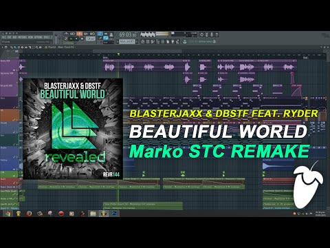 Blasterjaxx & DBSTF Feat. Ryder - Beautiful World [FL Studio Remake + FREE FLP]
