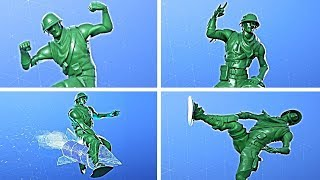 Fortnite Plastic Patroller Green Skin Showcase with All Dances & Emotes