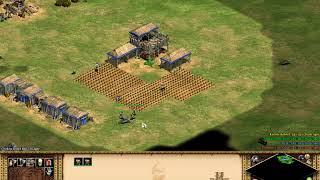 AOE 2 HD Teutons vs 4 others game 2 part 1