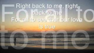 AMERICA - Right Back To Me