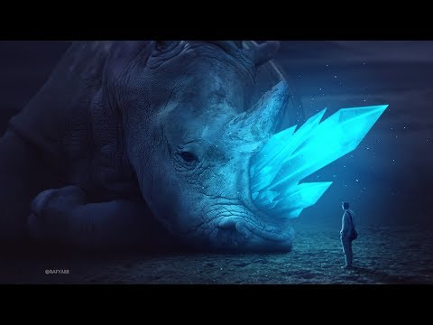 Glowing Rhino Photo Manipulation Effect Photoshop Tutorial