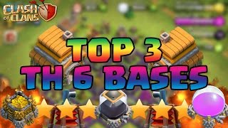 Clash Of Clans BEST Town Hall 6 (TH6) Defense Strategy FARMING/WAR/TROPHY/HYBRID Base + Air Sweeper