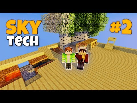 PentaCraft - SkyTech #2 | Первые ресурсы! Кирки СкайБлок с Модами! Выживание на сервере в Майнкрафт!