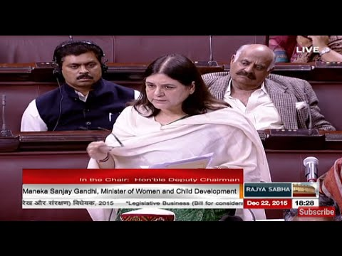Smt. Maneka Gandhi's reply on discussion on The Juvenile Justice (Care & Protec. of Children) Bill