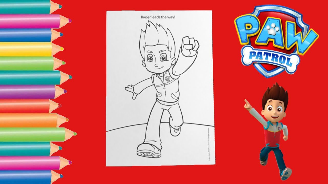 Coloring Paw Patrol Ryder Coloring Page / Gabby's Coloring Show