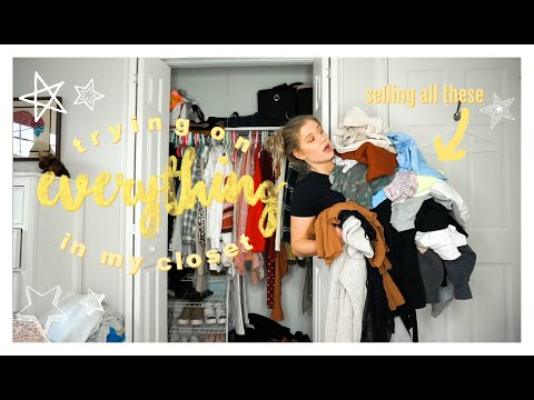 Trying on EVERYTHING in My Closet ☆ HUGE Closet Cleanout for 2020! (declutter)