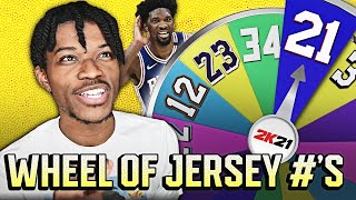 WHEEL OF JERSEY NUMBERS REBUILDING CHALLENGE IN NBA 2K21 NEXT-GEN