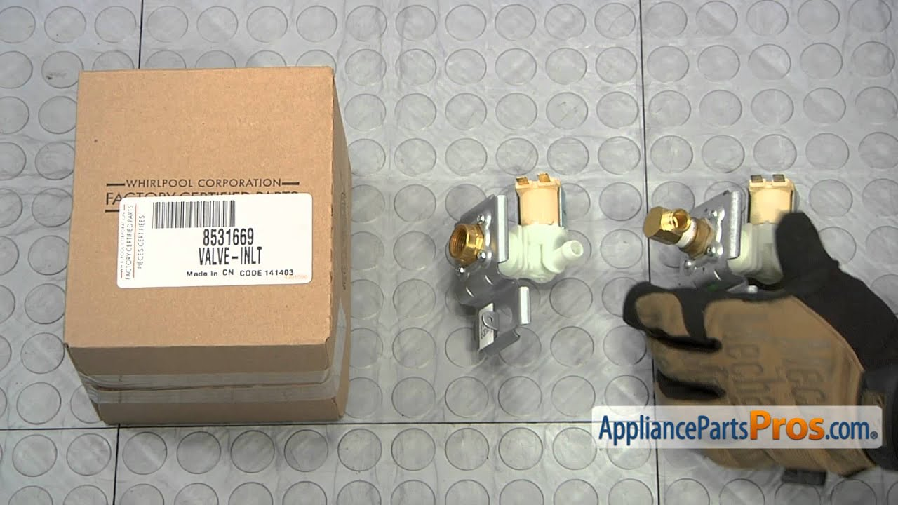 dishwasher water inlet valve assembly part wp8531669 how to replace [ 1280 x 720 Pixel ]