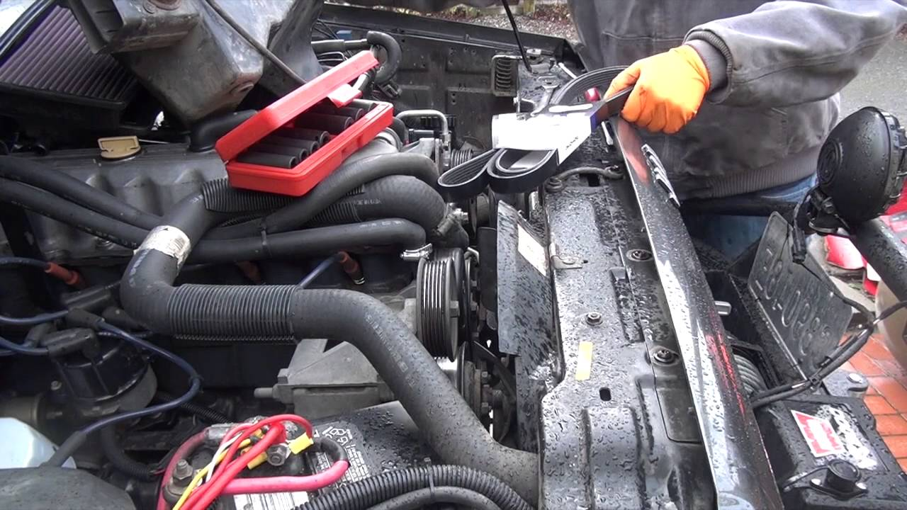Jeep 4 0 Inline 6 Serpentine Belt Replacement Youtube