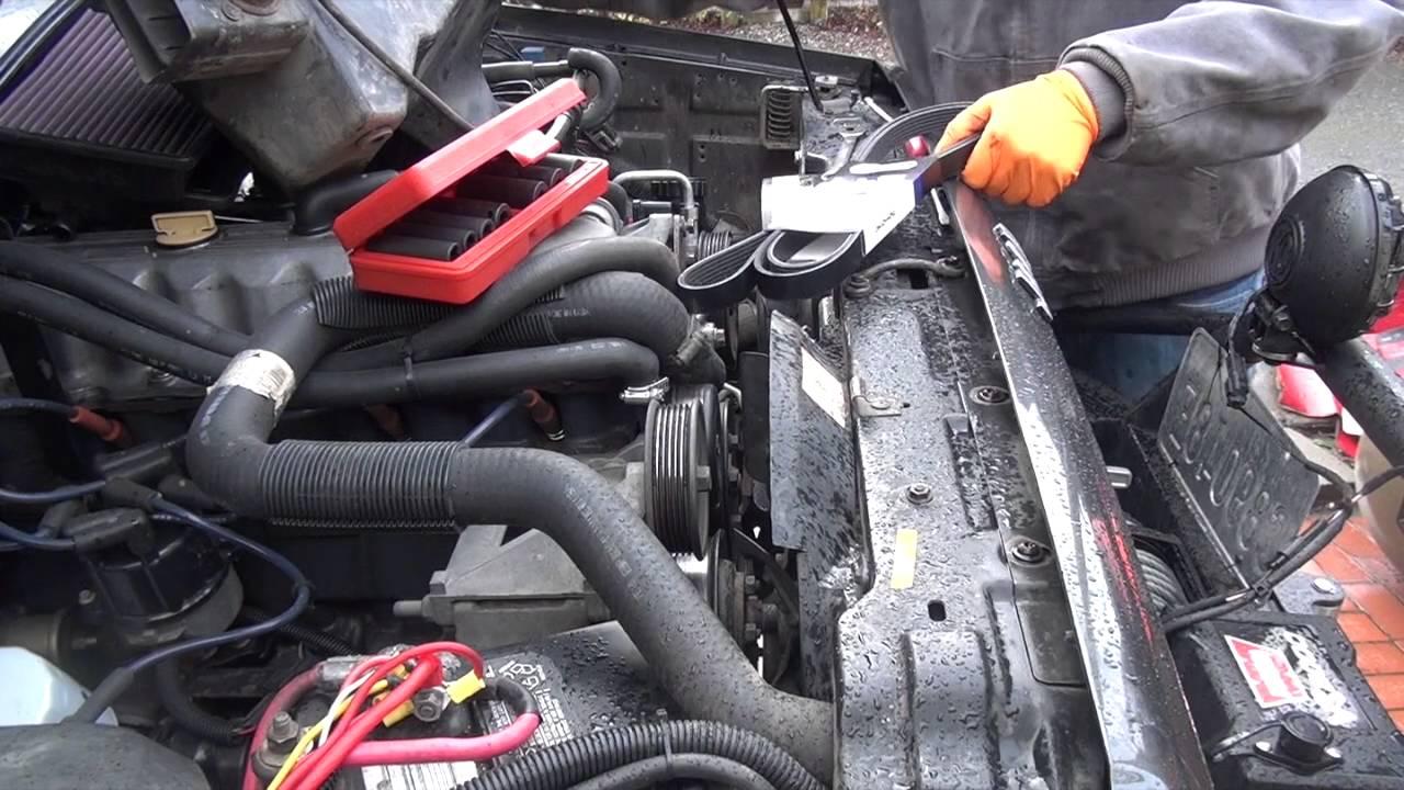 medium resolution of jeep 4 0 inline 6 serpentine belt replacement