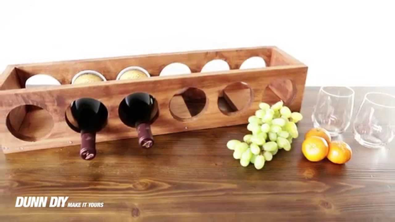 How To Build A Diy Wine Rack Youtube