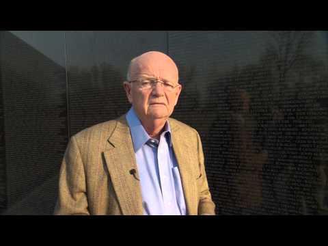 General Gordon R. Sullivan at the National Vietnam Veterans Memorial