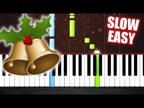 Jingle Bells - SLOW EASY Piano Tutorial by PlutaX