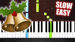 Jingle Bells - SLOW EASY Piano Tutorial by PlutaX