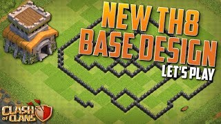 NEW TH8 BASE!  Clash of Clans