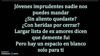 Kevin Karla & La banda- Blank Space, En español, letra.