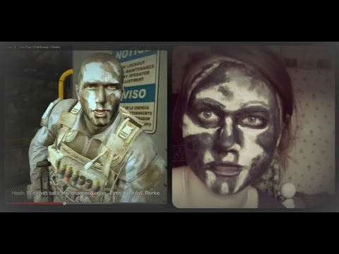 Call Of Duty Ghosts Hesh Inspired Face Paint Halloween Youtube
