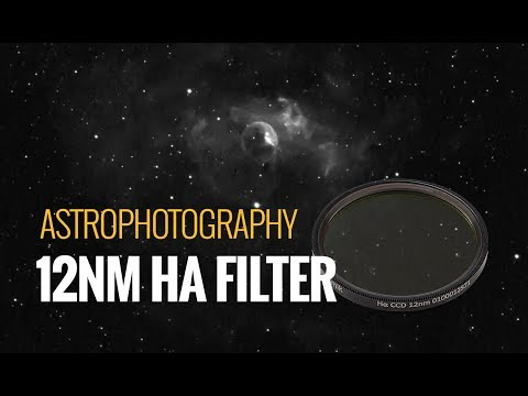 Astrophotography with a 12nm Ha Filter [ Bubble Nebula ]