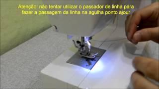Usando agulha ponto Ajour ou Asa na máquina de costura Brilliance 6160