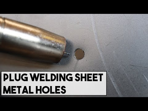 HOW TO PLUG WELD HOLES IN AUTO BODY PANELS