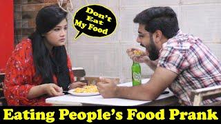 Eating Strangers Food Prank | Pranks In Pakistan | Humanitarians