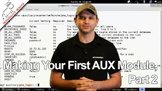 Making Your First AUX Module, Part 2 - Metasploit Minute