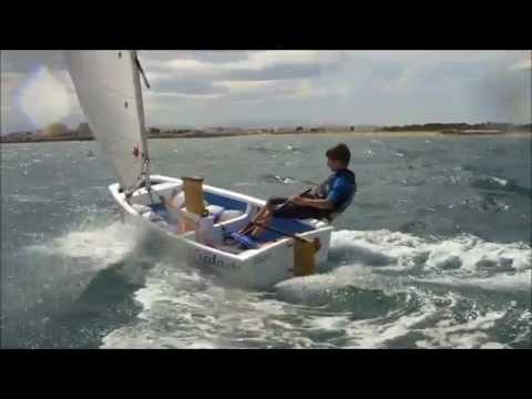 Elie 12 ans, Voile compétition à Canet en Roussillon