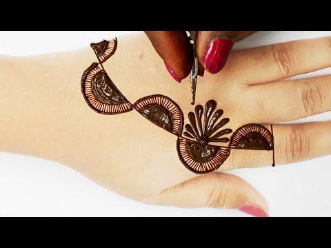 Stylish Eid Special Mehndi Design 2020 - आसान शेडेड अरेबिक मेहँदी डिज़ाइन लगाना सीखे - Easy Mehandi