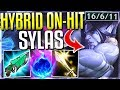 HYBRID ON HIT SYLAS IS SO BROKEN BIGGEST HEAL EVER Sylas Top Gameplay League Of Legends mp3