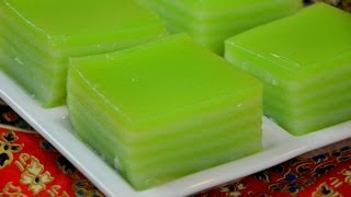 How To Make Thai Khanom Chan (steamed Pandan Layer Cake) ขนมชั้นใบเตย (千層糕)