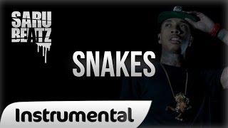 "Tyga Style Gangsta Instrumental Bass 808 Rap Beat ""Snakes"" - SaruBeatz"