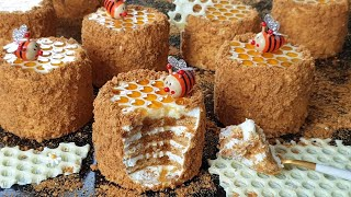 Mini Russian Honey cake full of sweetness/ Medovik  Recipe