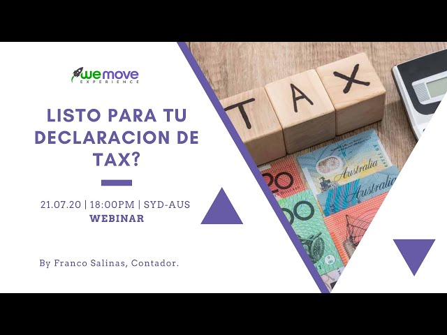 ¿Necesitas hacer tu declaración de impuestos y no sabes cómo? ¡Revive  aquí nuestro último webinar!