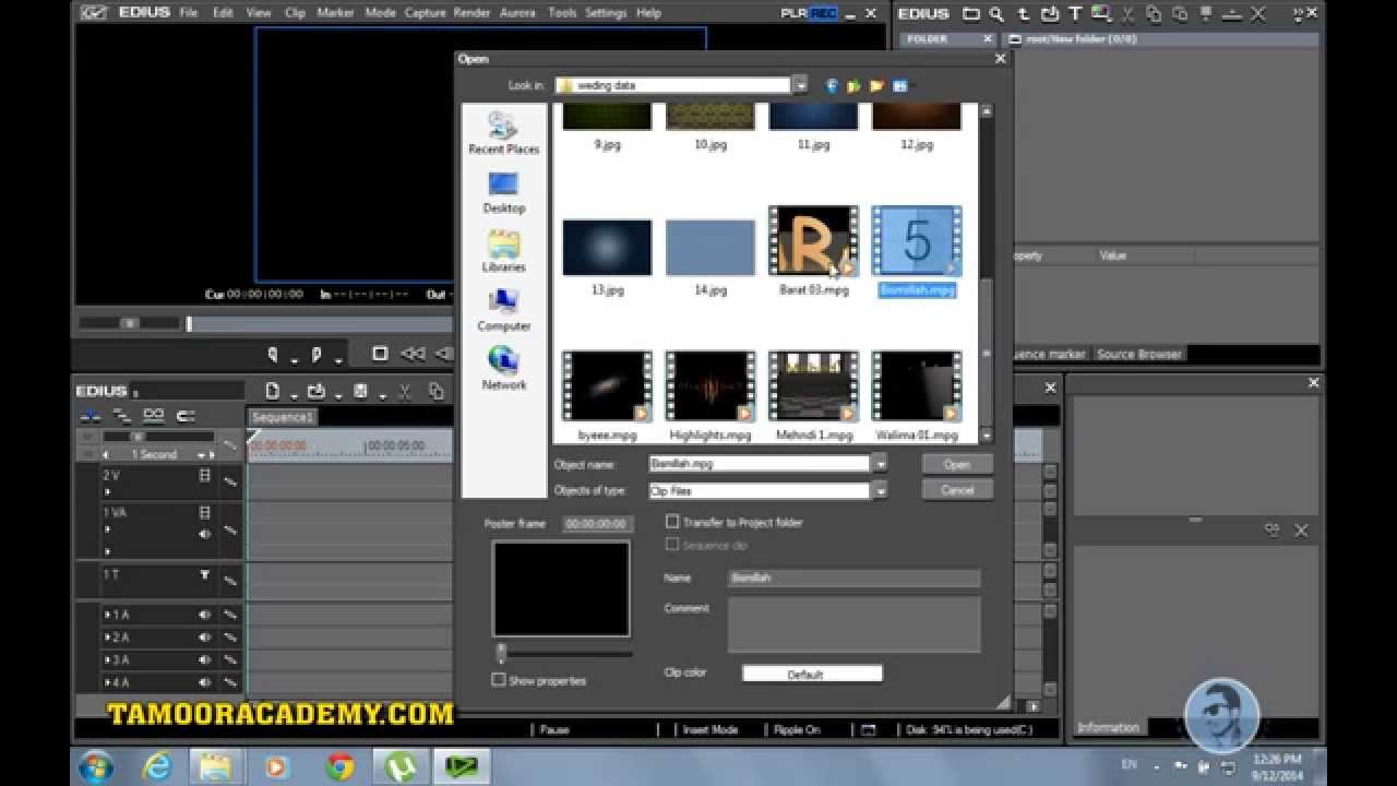 Wedding Video Editing In Edius
