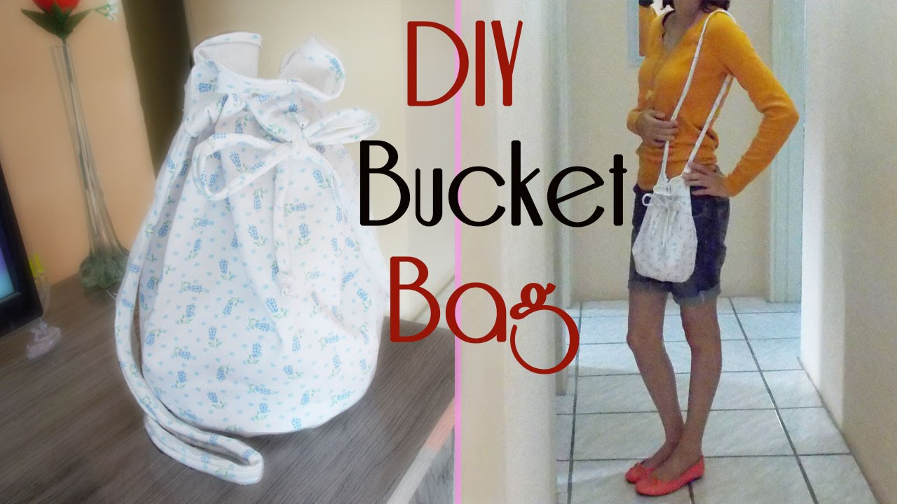 15dc6280edfb0 DIY- Bucket Bag Bolsa Sacola Bolsa Balde -Bordando TV - YouTube