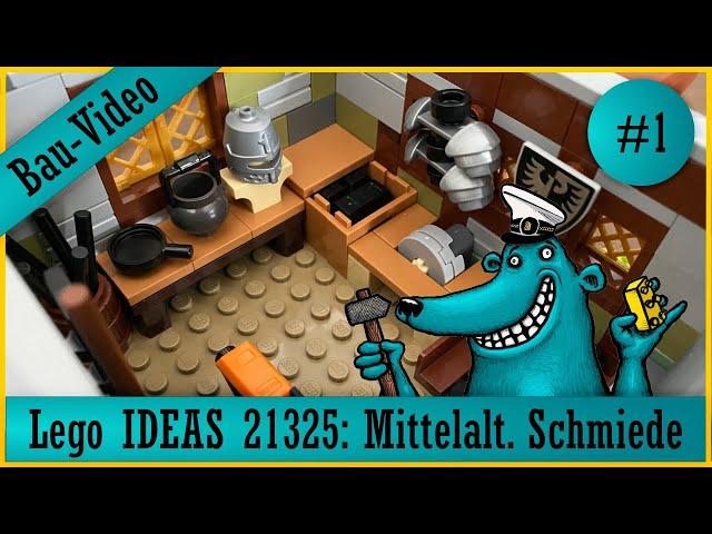 Lego Ideas 21325: Der Käpt'n baut eine mittelalterliche Schmiede, denn er wäre gern ein Schmied! 1/2