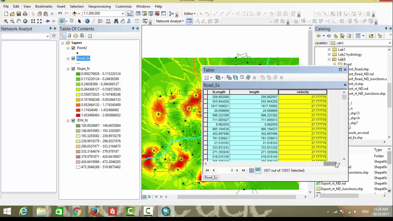 how to make network analysis in arcmap 10 5