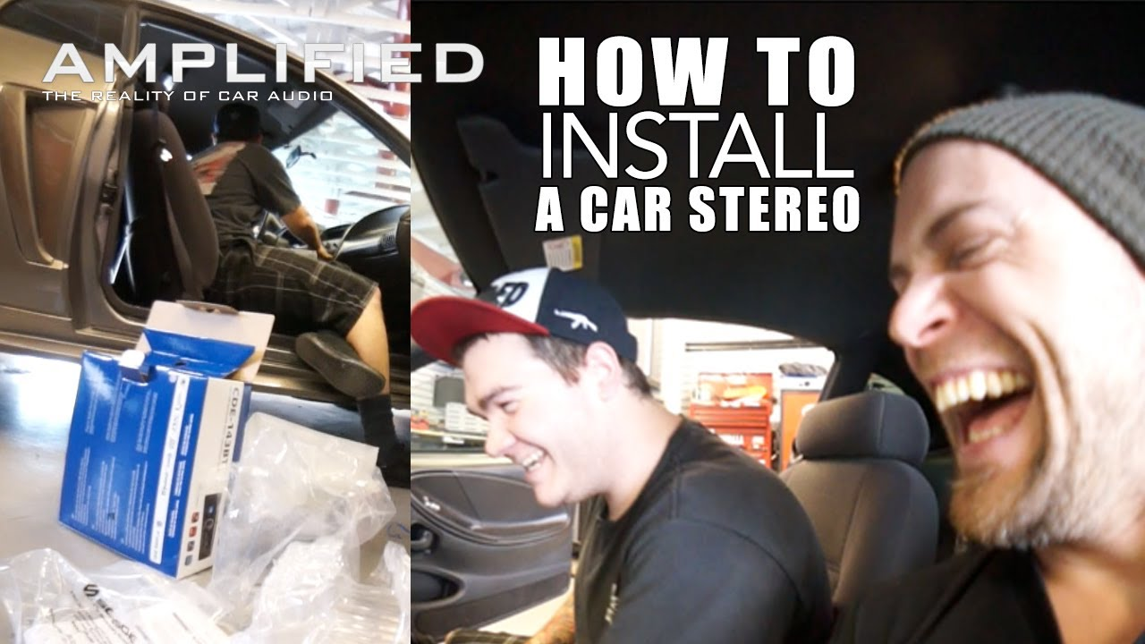 How To Install An Alpine Car Stereo Amplified 157 Youtube Kenwood Audio Wiring Diagram