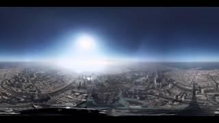 8K 360 Degree Timelapse from the Burj Khalifa Pinnacle