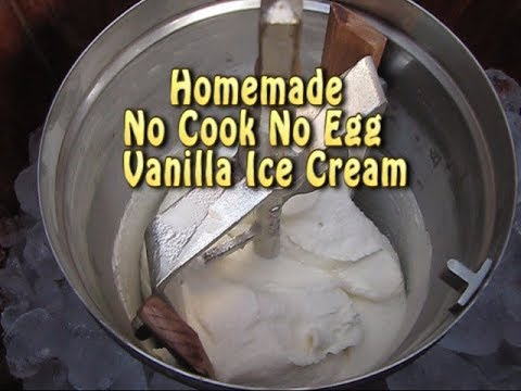 NO COOK HOMEMADE ICE CREAM-EGGLESS HOME CHURNED ICE CREAM