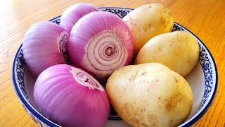 4 onions and 3 potatoes, so simple to do, more fragrant than eating meat.