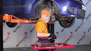 Cómo y cuándo cambiar Bieleta de barra estabilizadora delantera y trasera FORD FIESTA V (JH_, JD_): vídeo tutorial