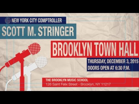 Comptroller Stringer S Brooklyn Town Hall Invitation Youtube