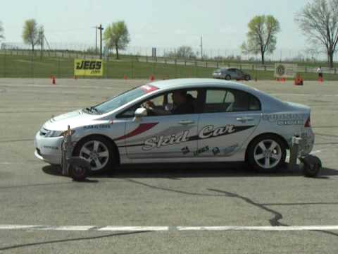 skid car mid ohio school skid car youtube
