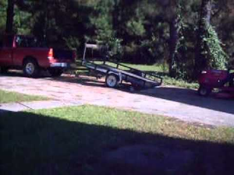 How To Load A Riding Lawn Mower On A Tilt Trailer 5x8