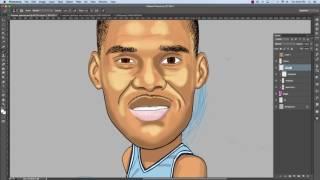 How to Draw UNC Antwan Jamison Caricature
