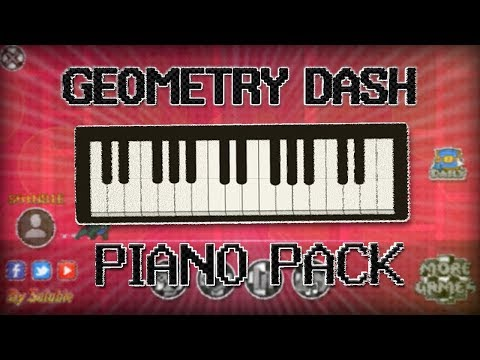 GEOMETRY DASH!! TEXTURE PACK PIANO DASH (ALL GRAPHICS) | Geometry Dash 2.13