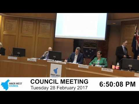 Inner West Council | Council Meeting | 28/02/2017