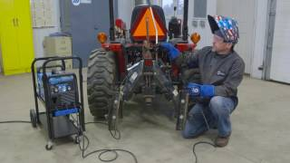 utility tractor hitch repair using the multimatic 215 multiprocess welder