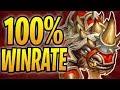 RUSHING THROUGH LADDER W 100 WIN RATE Rush Warrior Rastakhan S Rumble Hearthstone mp3